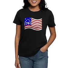Waving Bennington 76 Flag T-Shirt