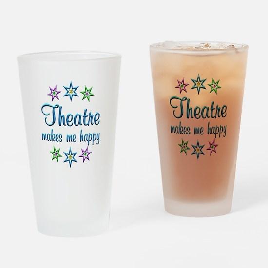 Theatre Happy Drinking Glass