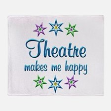 Theatre Happy Throw Blanket