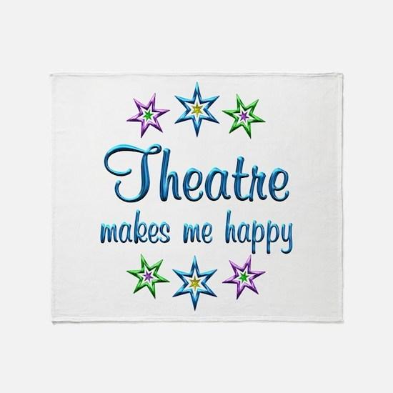 Theatre Happy Throw Blanket