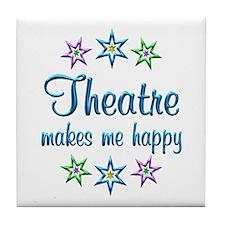 Theatre Happy Tile Coaster