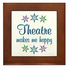 Theatre Happy Framed Tile