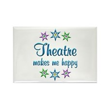 Theatre Happy Rectangle Magnet (100 pack)