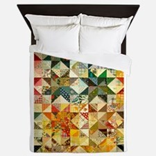 Fun Patchwork Quilt Queen Duvet