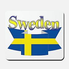 Swedish Flag Ribbon Mousepad