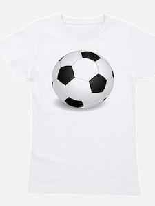 soccer ball large Girl's Tee