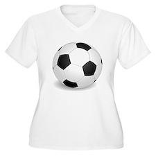 soccer ball large Plus Size T-Shirt