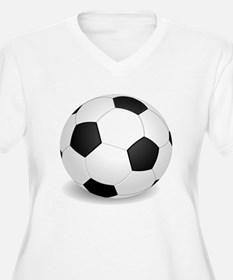 soccer ball large Plus Size T-Shirt