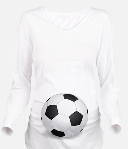 soccer ball large Long Sleeve Maternity T-Shirt