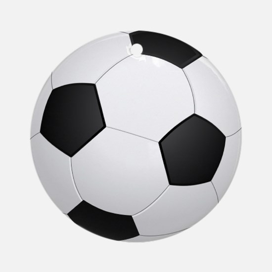 soccer ball large Ornament (Round)