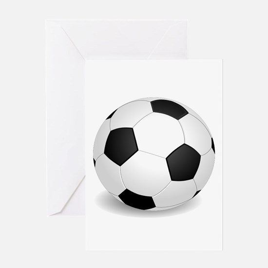 soccer ball large Greeting Cards