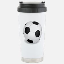 soccer ball large Travel Mug