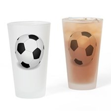 soccer ball large Drinking Glass