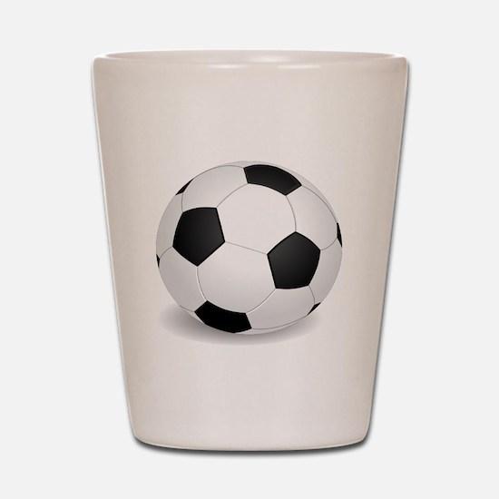 soccer ball large Shot Glass