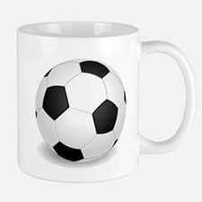 soccer ball large Mugs