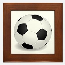 soccer ball large Framed Tile