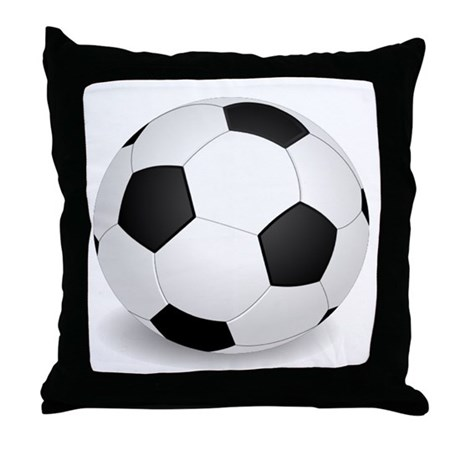 Squishy Soccer Ball Pillow : soccer ball large Throw Pillow by 1stopshoppingts