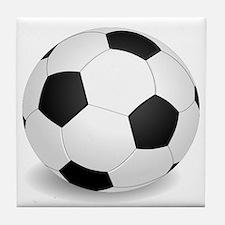 soccer ball large Tile Coaster
