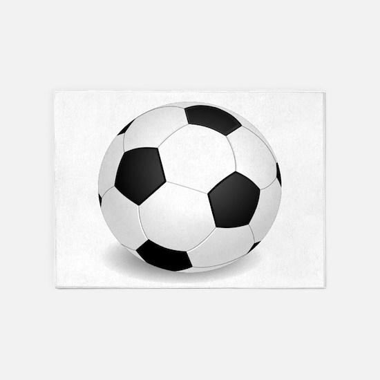 soccer ball large 5'x7'Area Rug