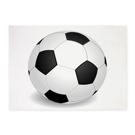 Soccer Ball Large 5u0027x7u0027Area Rug