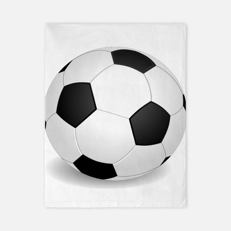 soccer ball large Twin Duvet