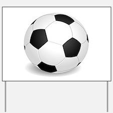 soccer ball large Yard Sign