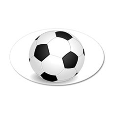 soccer ball large Wall Decal