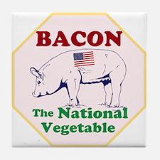 Bacon, The National Vegetable Tile Coaster