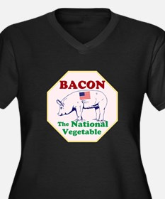 Bacon, The National Vegetable Plus Size T-Shirt