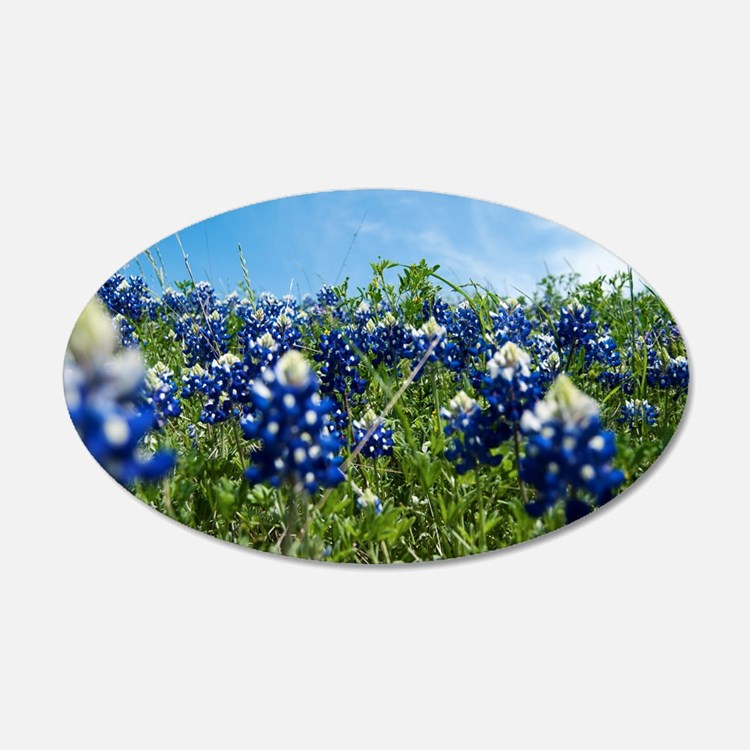 texas bluebonnet field Wall Decal