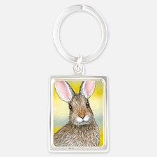 Hare 29 rabbit Portrait Keychain