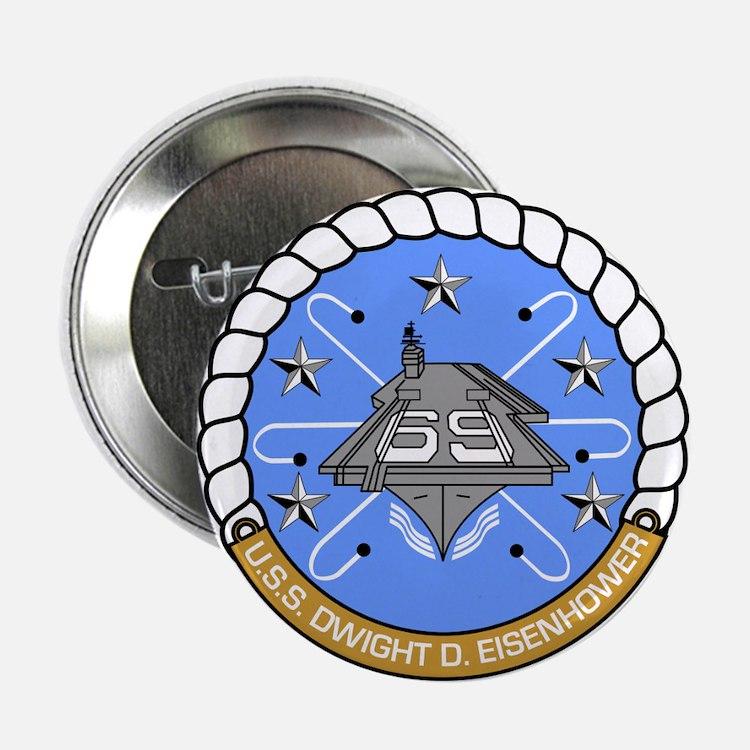 """Uss Dwight D. Eisenhower Cvn-69 2.25"""" Button"""