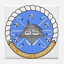 Uss Dwight D. Eisenhower Cvn-69 Tile Coaster