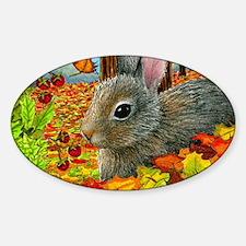 Hare 40 rabbit fall Sticker (Oval)