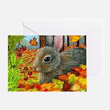 Hare 40 rabbit fall Greeting Card