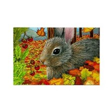 Hare 40 rabbit fall Rectangle Magnet