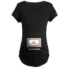 Bun in the Oven Belly Design Maternity Black Shirt