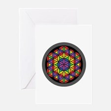 Charkas Flower of Life Greeting Cards