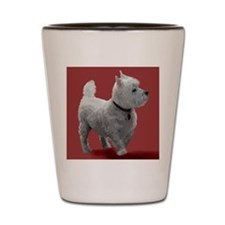 WESTIE IN THE PINK Shot Glass