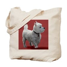 WESTIE IN THE PINK Tote Bag