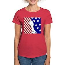 Peekaboo Patriotic Westie Tee