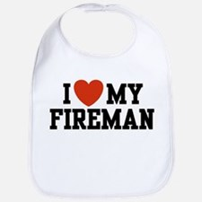 I Love My Fireman Bib