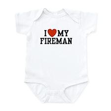 I Love My Fireman Infant Bodysuit