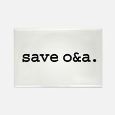 save o&a. Rectangle Magnet