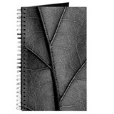 Black and white leaf Journals & Spiral Notebooks