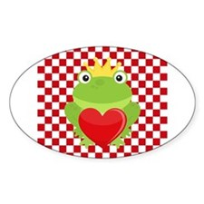Frog Prince on Red and White Decal