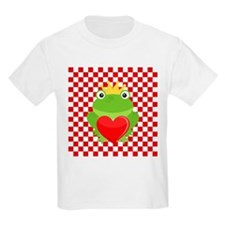 Frog Prince on Red and White T-Shirt