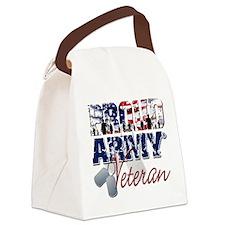 ProudArmyVeteran Canvas Lunch Bag
