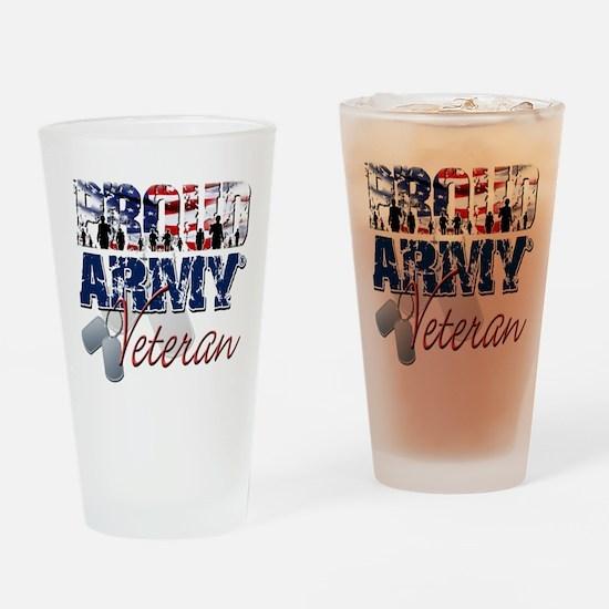 ProudArmyVeteran Drinking Glass