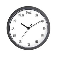 Formal Chinese Numeral Wall Clock